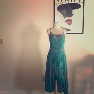 turquoise spring/ summer dress